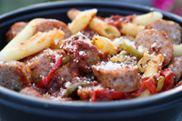 Penne w Sausage & Peppers